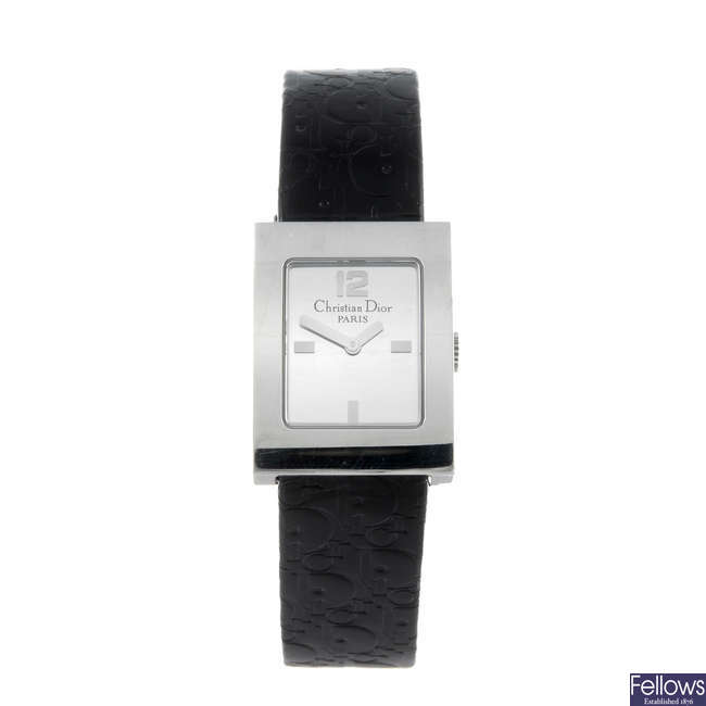 DIOR - a lady's stainless steel Malice wrist watch.