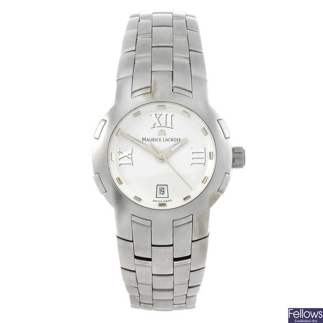 MAURICE LACROIX - a lady's stainless steel bracelet watch.