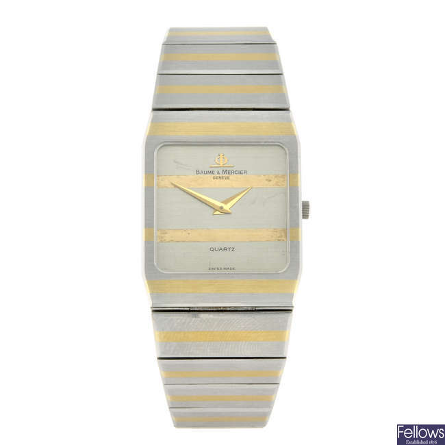 BAUME & MERCIER - a gentleman's bi-colour bracelet watch.