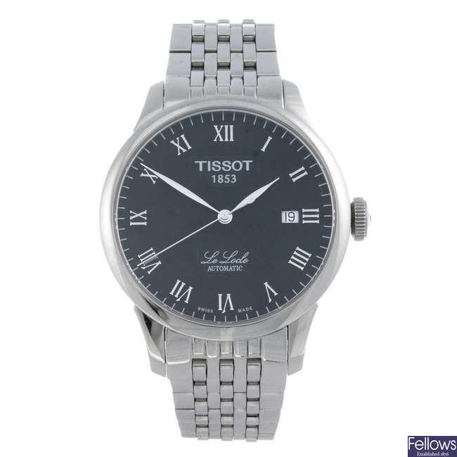 TISSOT - a gentleman's stainless steel Le Locle bracelet watch.
