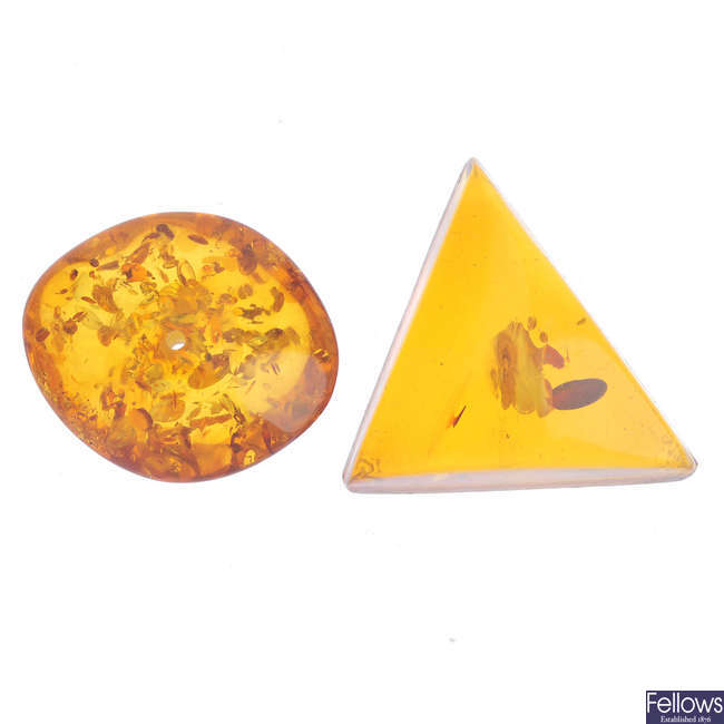 A selection of mostly reconstituted amber.