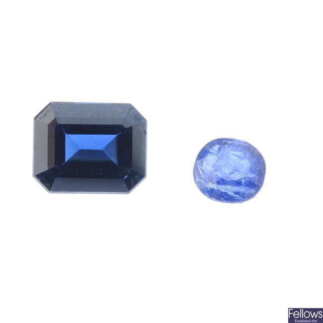 A selection of vari-shape sapphires.