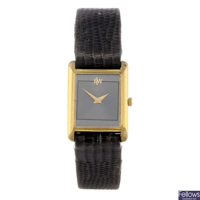 RAYMOND WEIL - a lady's gold plated wrist watch.