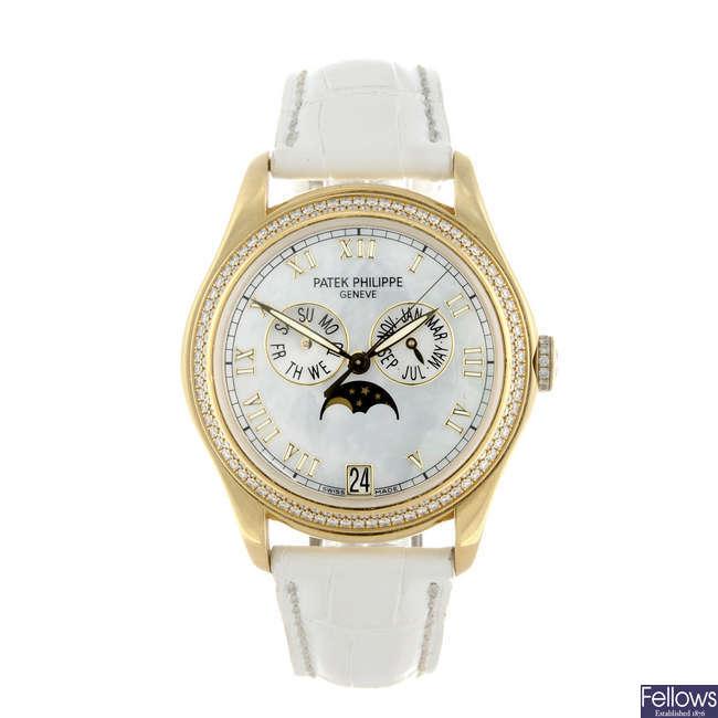 (201660) PATEK PHILIPPE - a lady's 18ct yellow gold Annual Calendar wrist watch.