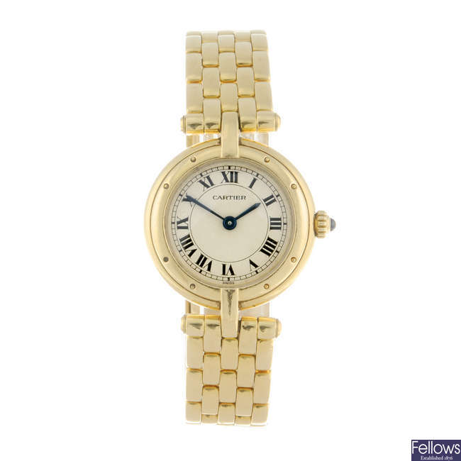 CARTIER - an 18ct yellow gold Panthere Vendome bracelet watch.