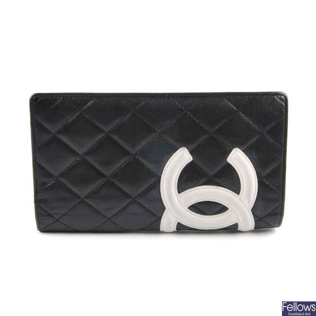 CHANEL - a Linge Cambon long wallet.