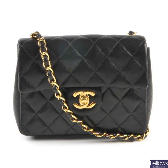 CHANEL - a quilted Mini Classic Flap handbag.