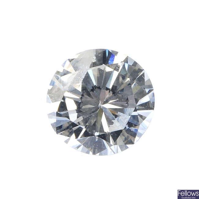 A brilliant-cut diamond, weighing 0.60ct