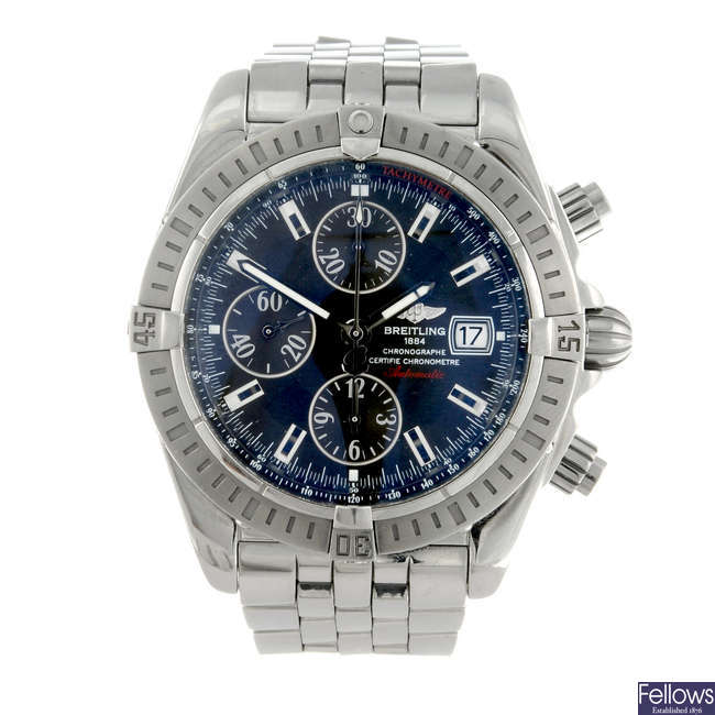 BREITLING - a gentleman's stainless steel Windrider Chronomat Evolution bracelet watch.