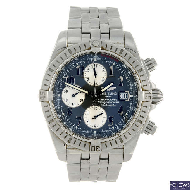 BREITLING - a gentleman's stainless steel Windrider Chronomat Evolution chronograph bracelet watch.