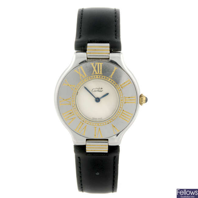 CARTIER - a stainless steel Must De Cartier 21 wrist watch.