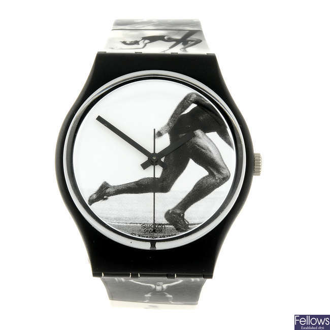 SWATCH - an Annie Leibovitz Olympic Portraits watch.