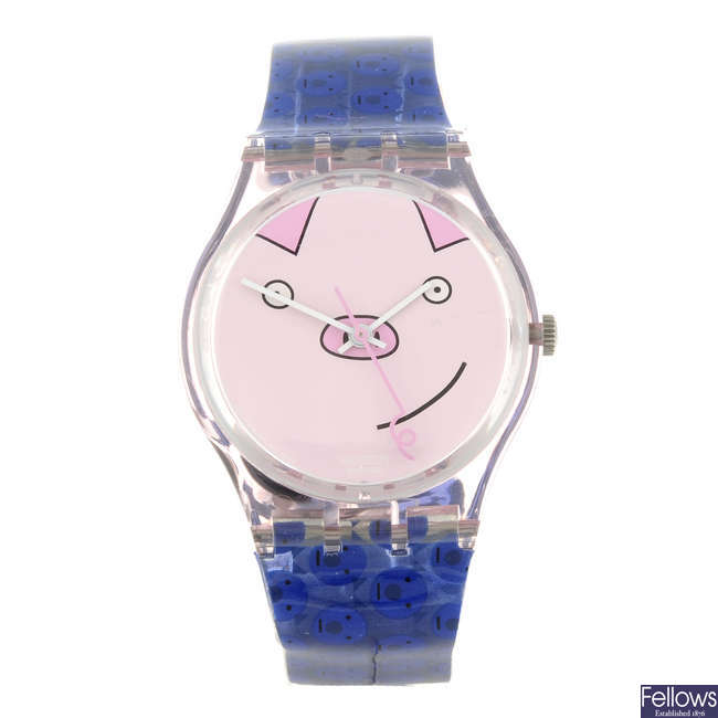 SWATCH - a Happy Pig watch.