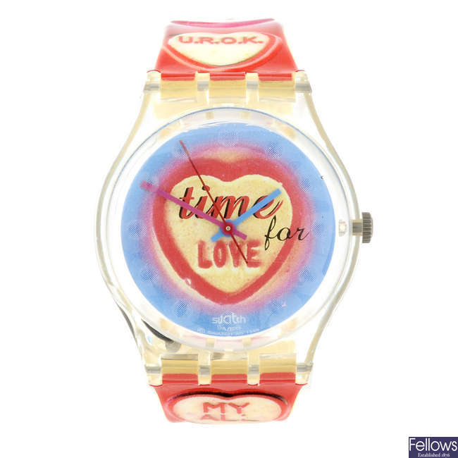 SWATCH - a Time For Love watch.
