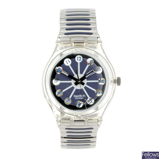 SWATCH - a Blue Segment watch.