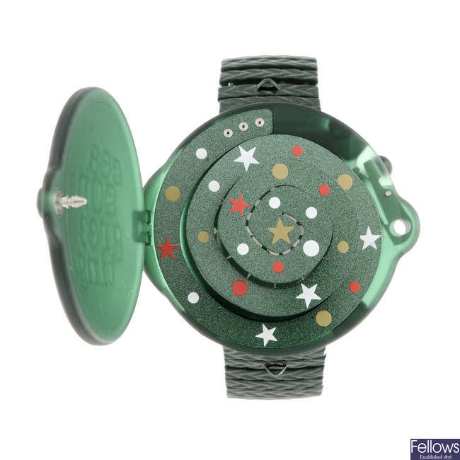 SWATCH - a Seasons Greetings watch.