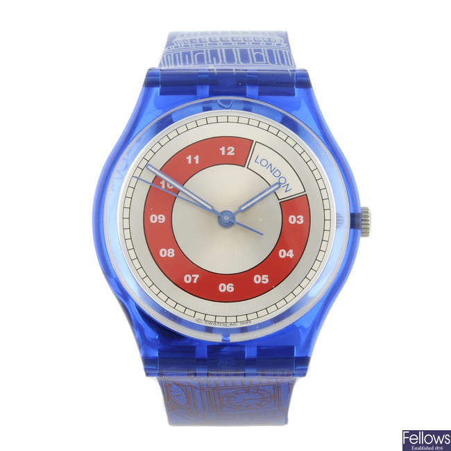 SWATCH - a Sightseeing Tour (London) watch.