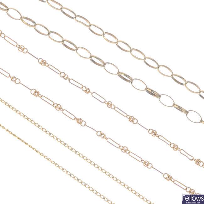 Three necklaces.