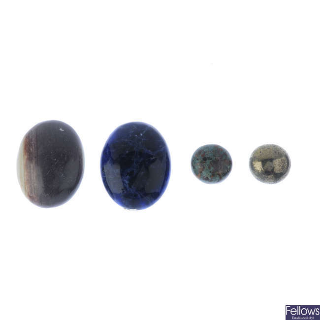 A selection of gemstones.