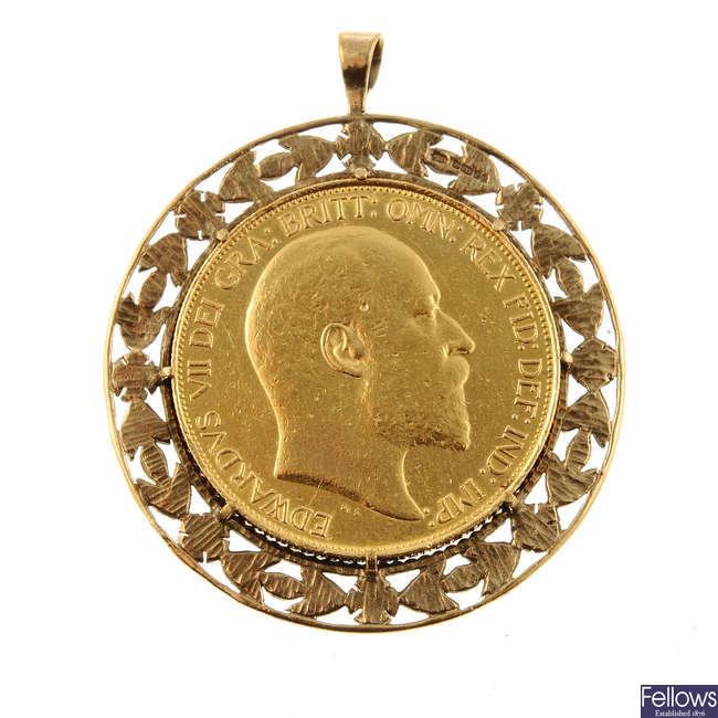 Edward VII, gold Five-Pounds 1902.
