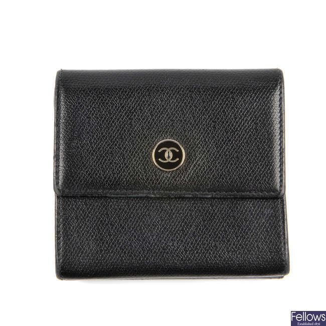 CHANEL - a leather wallet.
