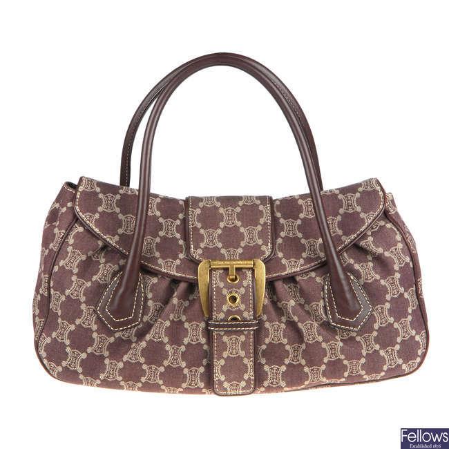 CÉLINE - a large Macadam handbag.