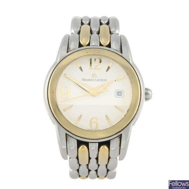 MAURICE LACROIX - a gentleman's bi-colour Sphere bracelet watch.