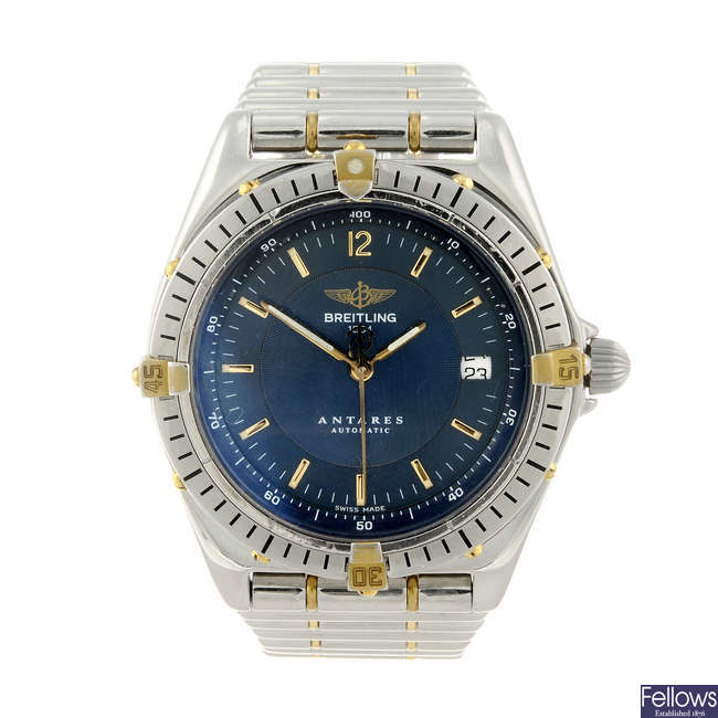 BREITLING - a gentleman's stainless steel Windrider Antares bracelet watch.