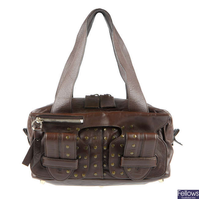 CHLOE - a brown leather handbag.