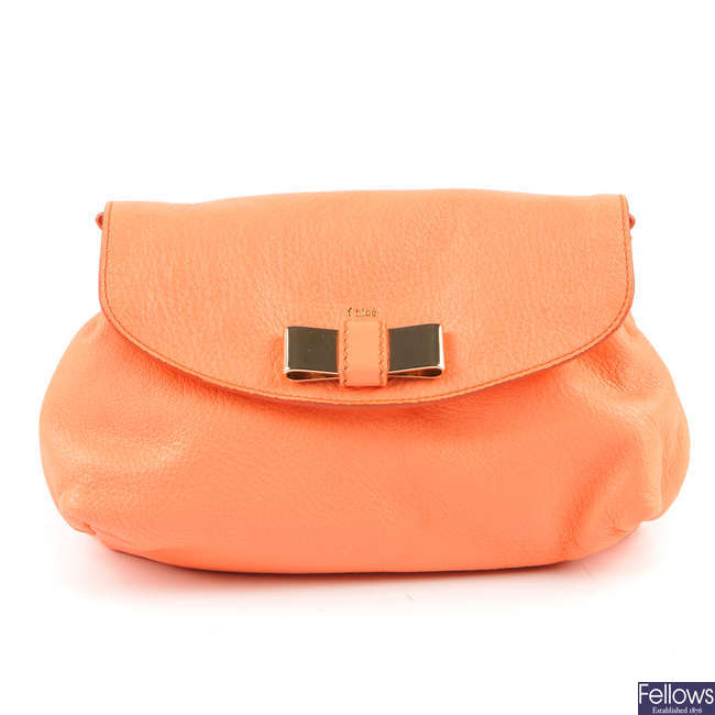 CHLOE - a small bow front handbag.