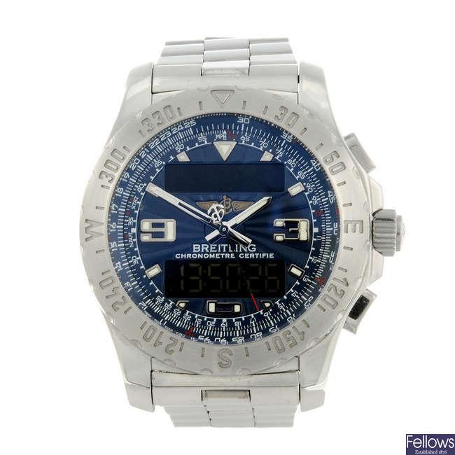 BREITLING - a gentleman's stainless steel Professional Airwolf bracelet watch.