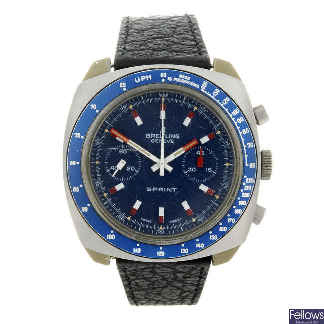BREITLING - a gentleman's resin Sprint chronograph wrist watch.