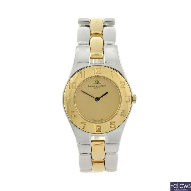 BAUME & MERCIER - a lady's bi-colour Linea bracelet watch.