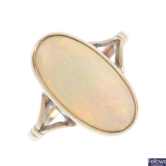 An opal ring.