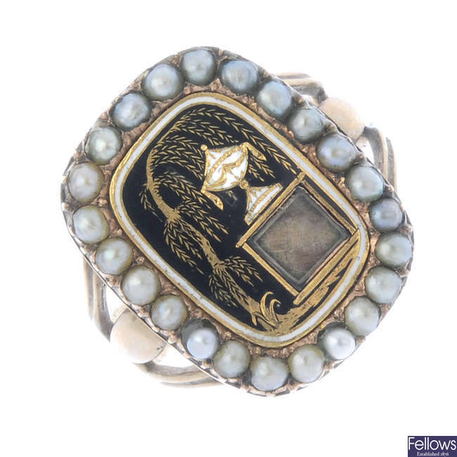 A mid Victorian memorial ring.