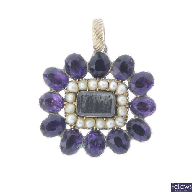 A mid Victorian mourning pendant.