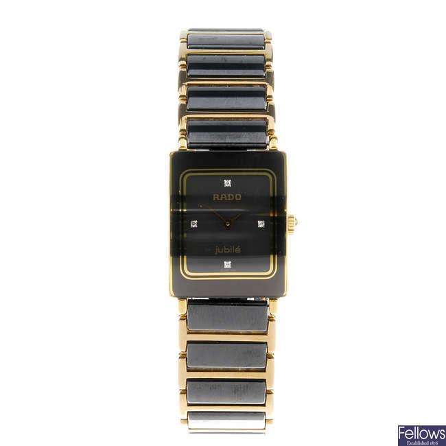 RADO ? a lady?s bi-material Jubile bracelet watch.