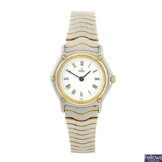 EBEL - a lady's bi-metal Classic Wave bracelet watch.
