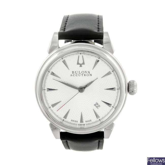 BULOVA - a gentleman's stainless steel Accutron Gemini wrist watch.