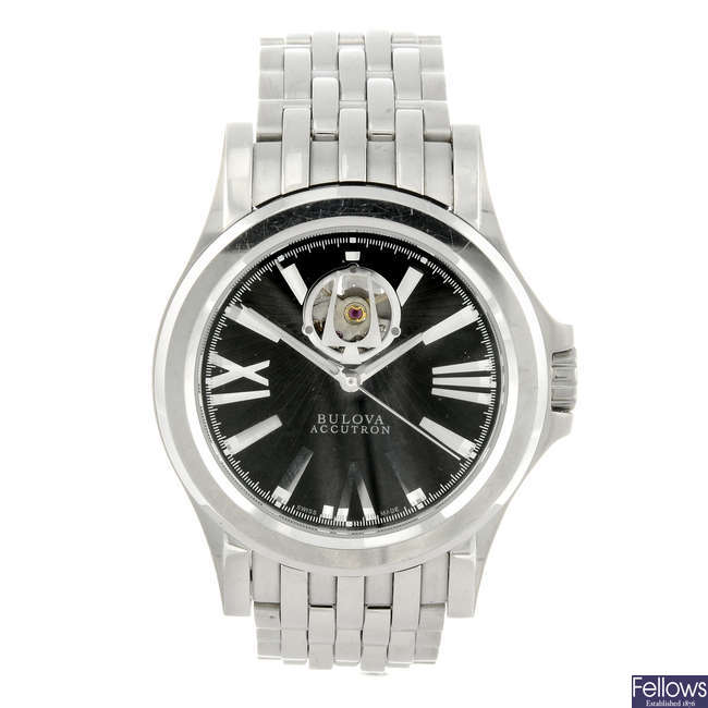 BULOVA - a gentleman's stainless steel Accutron Kirkwood bracelet watch.