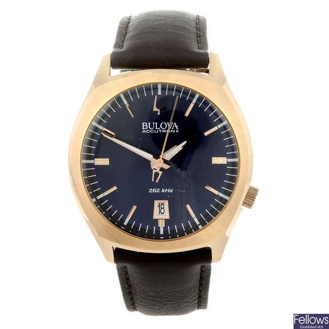 BULOVA - a gentleman's gold plated Accutron II wrist watch.