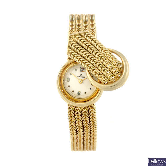 BLANCPAIN - a lady's 18ct yellow gold bracelet watch.