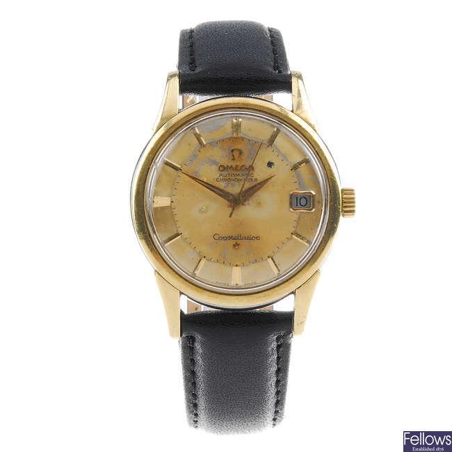 OMEGA - a gentleman's bi-colour Constellation wrist watch.