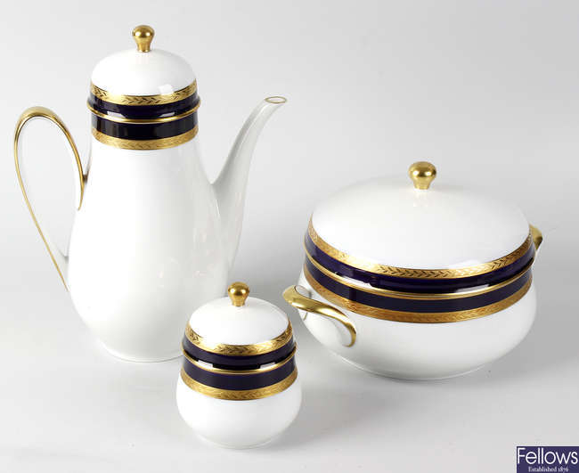 An extensive Hutschenreuther porcelain dinner and coffee service