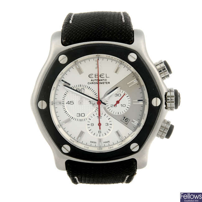 EBEL - a gentleman's stainless steel 1911 Tekton chronograph wrist watch.