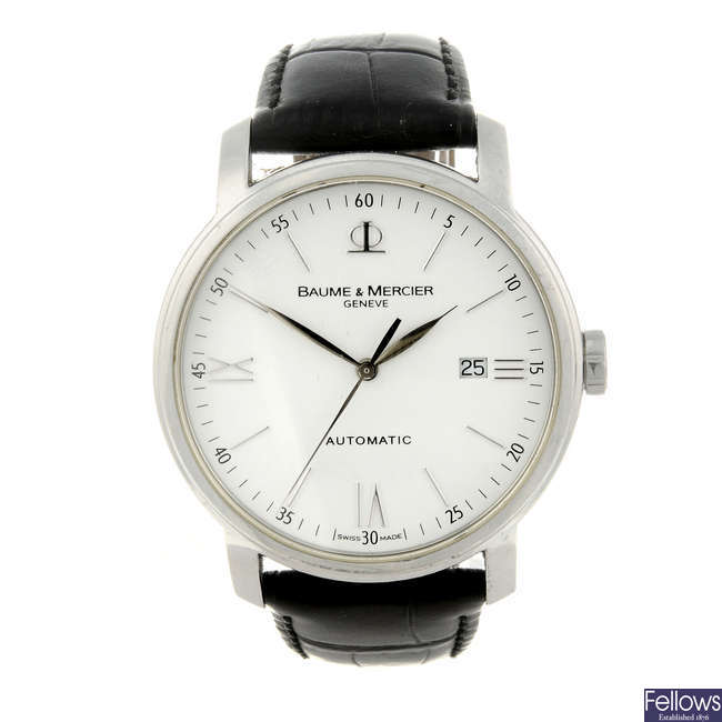 BAUME & MERCIER - a gentleman's stainless steel Classima Executive wrist watch.