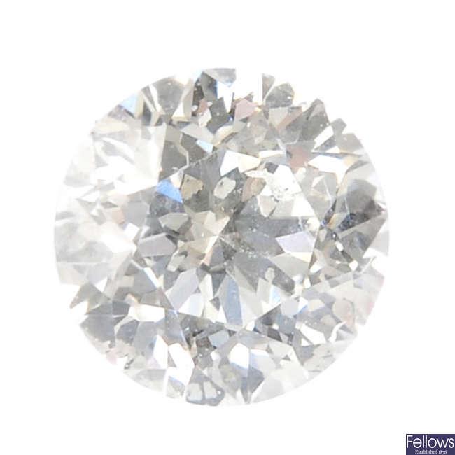 A brilliant-cut diamond, weighing 0.20ct.