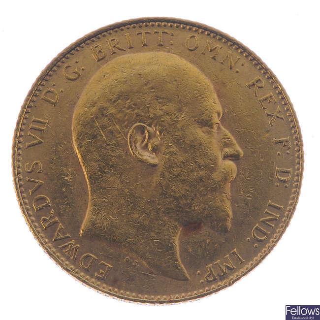 Edward VII, Sovereign 1907.