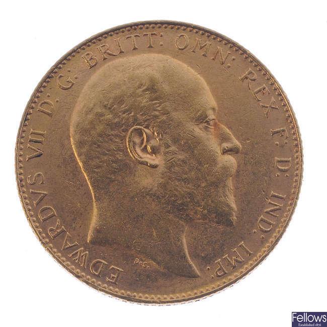 Edward VII, Sovereign 1909P.