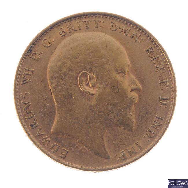 Edward VII, Sovereign 1910.